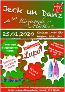 Ankündigung unserer Karnevalssitzung und -party am 25. Januar 2020